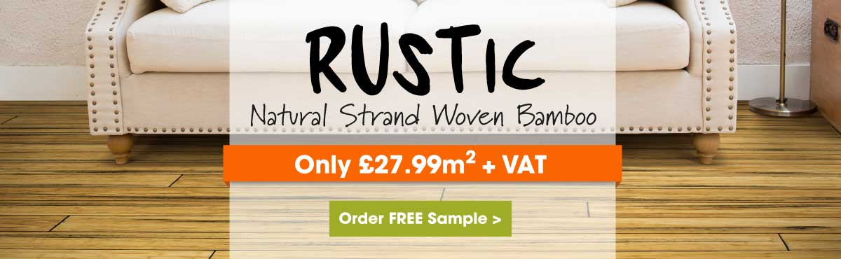 Rustic natural strand woven bamboo flooring