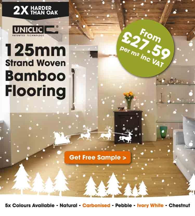 125mm Strand Woven Bamboo Flooring