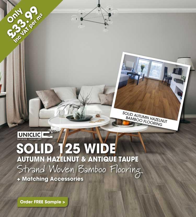Autumn Hazelnut & Antique Taupe Strand Woven Bamboo Flooring