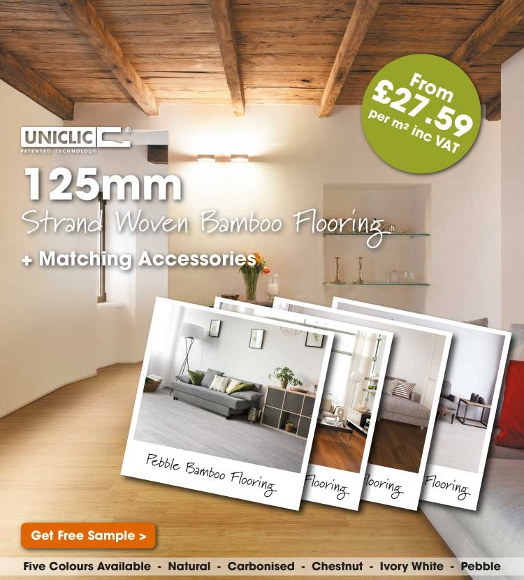 Click fitting bamboo flooring