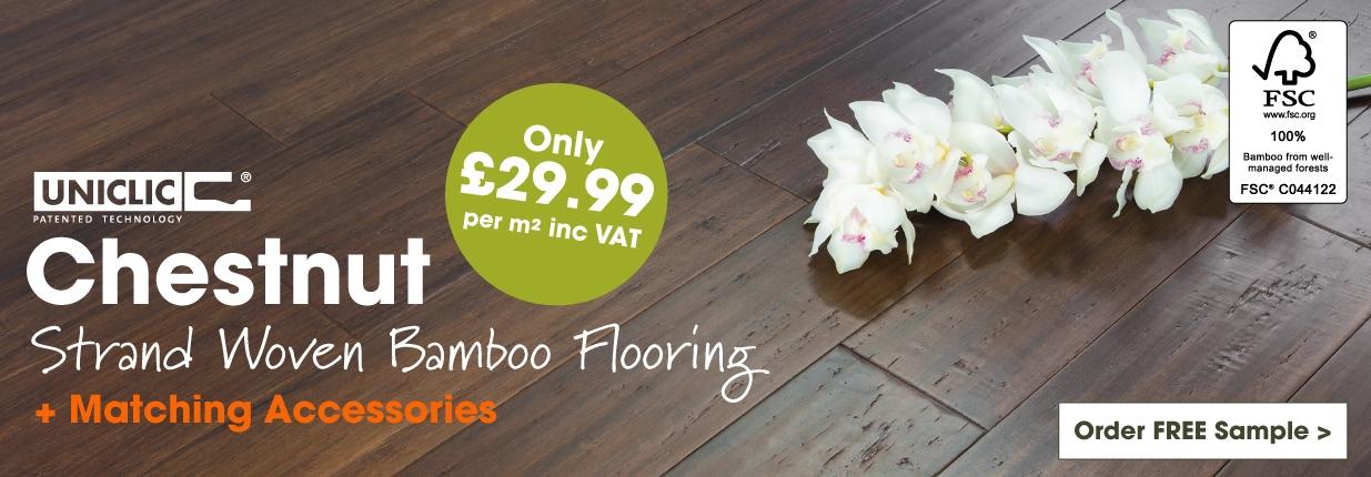 Chestnut Strand Woven Bamboo Flooring