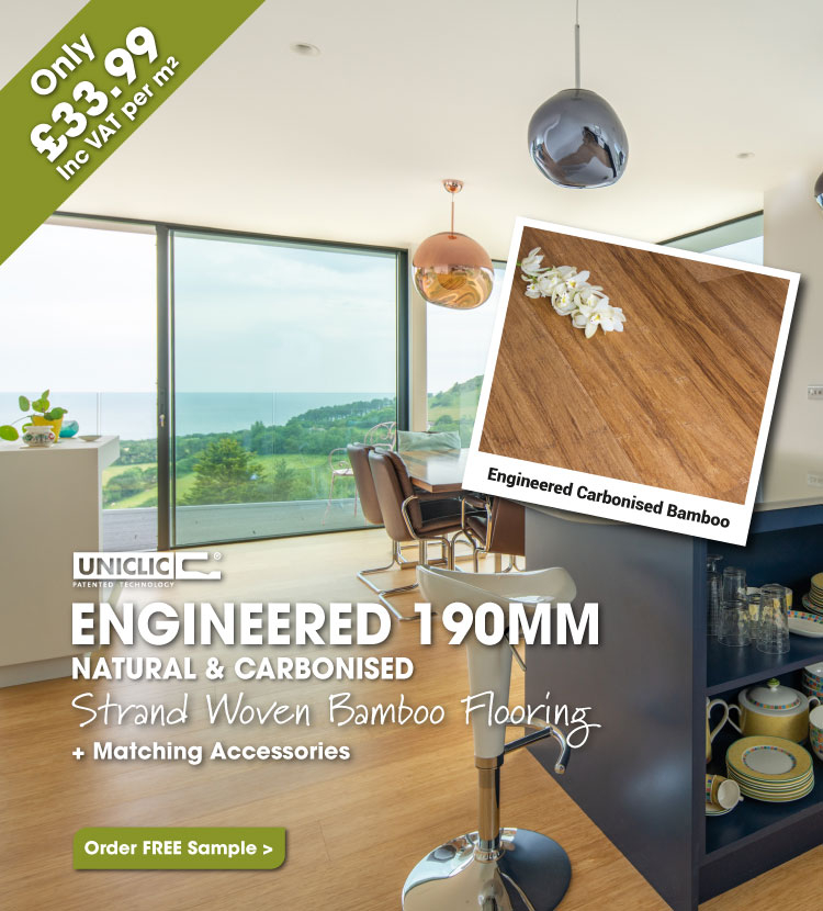 190mm Engineered Strand Woven Bamboo Flooring