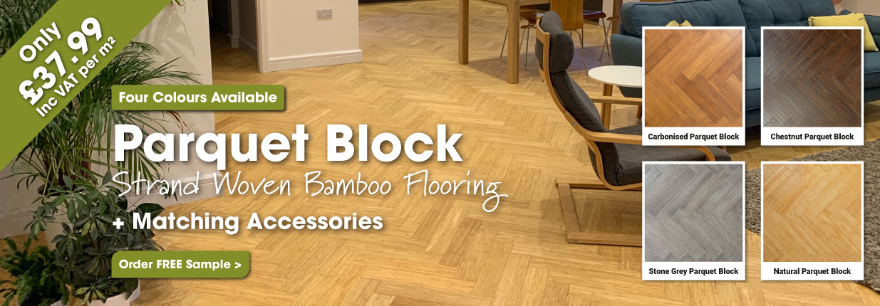 4 Strand Woven Parquet Block Bamboo Floors