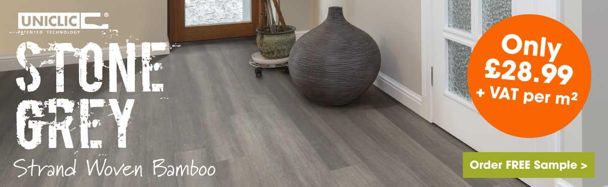 Stone grey bamboo flooring