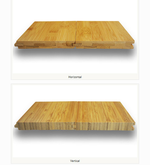 What is the difference between horizontal and vertical bamboo flooring - feature
