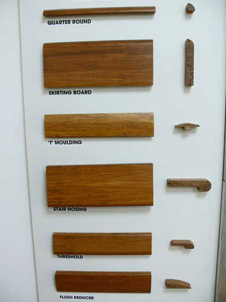 Bamboo flooring mouldings and accessories