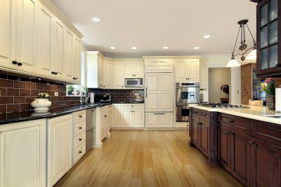 Solid Natural Strand Woven Bamboo Flooring in Kitchen