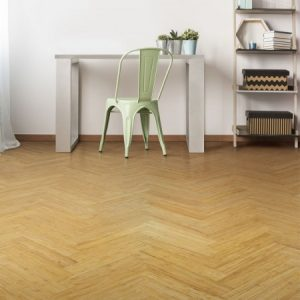 bamboo flooring in a parquet block style