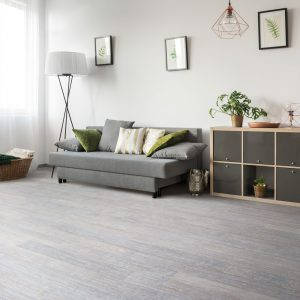 light grey bamboo flooring in a living room