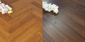 The different colours of bamboo flooring