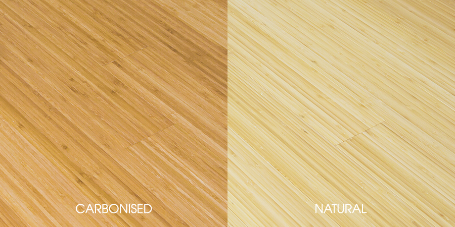 Carbonised and Natural Vertical Bamboo Flooring
