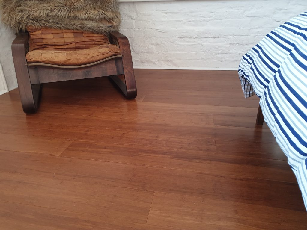 Beautiful Carbonised Strand Woven Bamboo Flooring