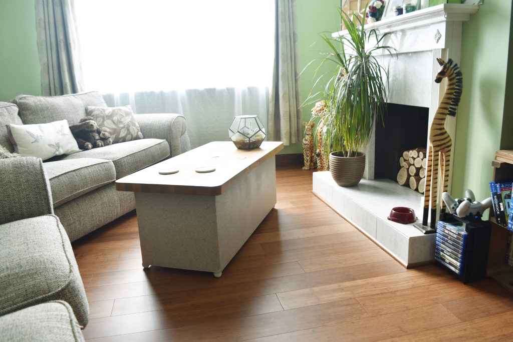 Carbonised bamboo flooring in a beautiful living area