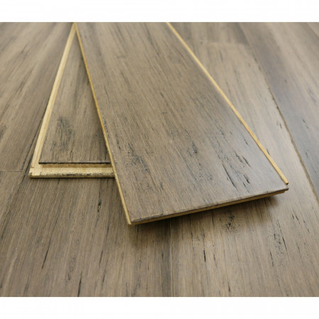 Solid Antique Taupe Bamboo Flooring
